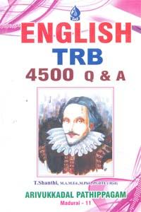 ENGLISH TRB 4500 Q&A