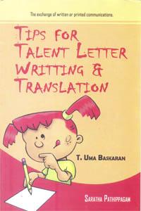 Tips for Talent Letter Writting & Translation