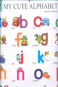 My Cute Charts MY CUTE ALPHABET - SMALL / CAPITAL (Front and Banck)