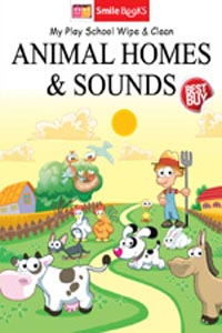 Tamil book my play school wipe & clean ANIMAL HOMES & SOUNDS