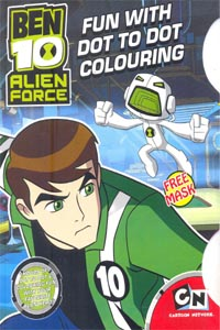Tamil book BEN 10 ALIEN FORCE FUN WITH DOT TO DOT COLOURING