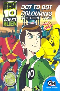 BEN 10 ULTIMATE ALIEN DOT TO DOT COLOURING