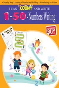 Tamil book I CAN COUNT AND WRITE Numbers Writing 1-50