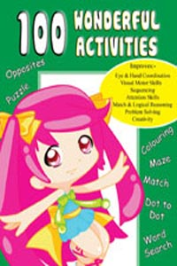 100 Wonderful Activities (Activity-100 Activities Book) - 100 WONDERFUL ACTIVITIES green