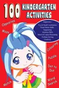 100 Kinder Garden Activities Level: 1 (Activity-100 Activities Book) - 100 KINDERGARTEN ACTIVITIES  red
