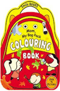 Mom, My Bag Pack Colouring: Red (Activity-Colouring Books) - Mom My Bag Pack COLOURING Book red