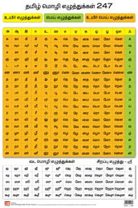 Tamil Alphabet (Front & Back) (Educational Wall Charts) - educational wall charts TAMIL ARICHUVADI