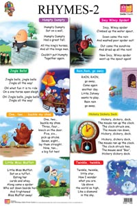 Rhymes-1 & 2 - FRONT & BACK (Educational Wall Charts) - educational wall charts RHYMES 2