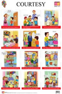 Courtesy & Care & Share - FRONT & BACK (Educational Wall Charts) - educational wall charts COURTESY CARE AND SHARE